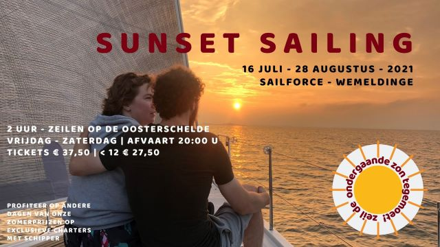 Sunset sailing met schipper SailForce 2021